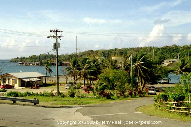 View of Colonia, Yap, from a hill