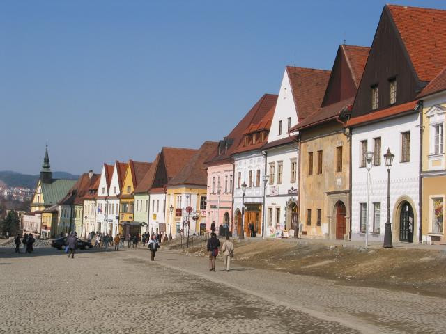 Along the Bardejov town square