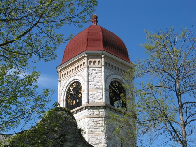 Clock tower at Williams College