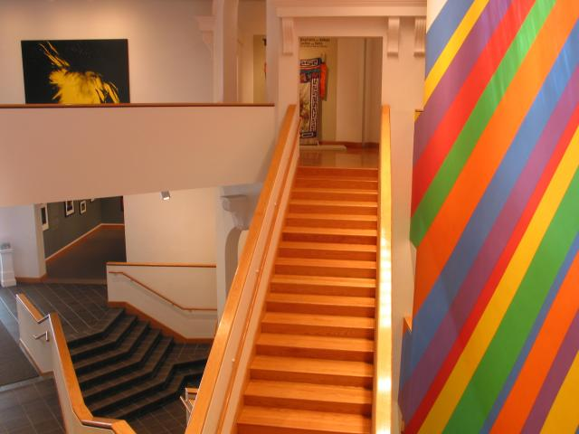 Inside Williams College art museum