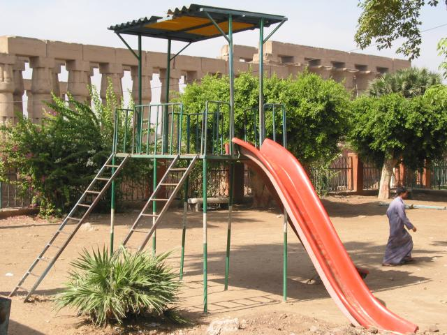 Playground next to Luxor Temple