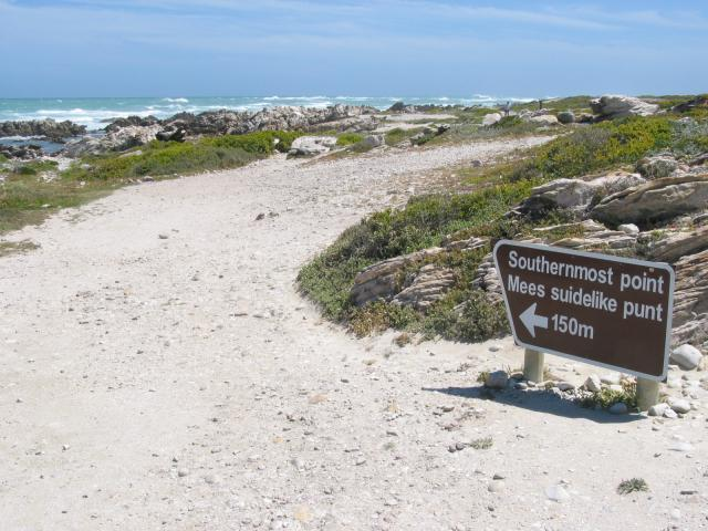 Road to end of Cape Agulhas