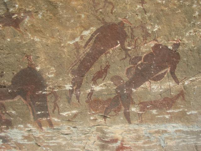 Cave art made by the San people