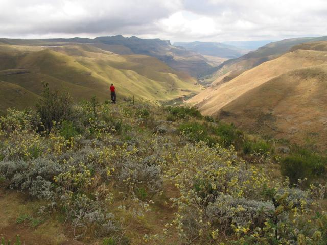 Looking down from lhalfway up Sani Pass