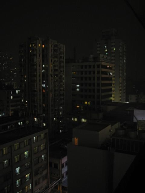 Nighttime view from Bai Yun Hotel, 12th floor