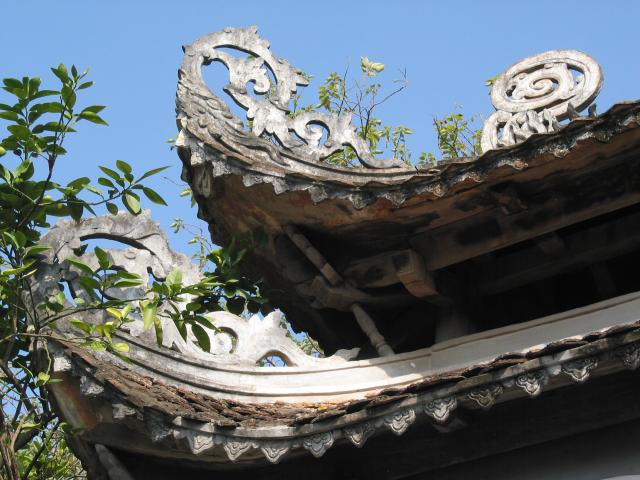 Corner of roof at Ngoc Son temple
