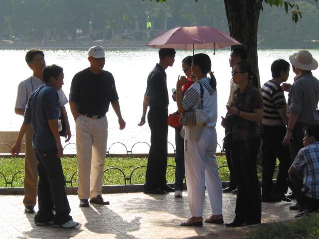 Walking around Hoan Kiem Lake
