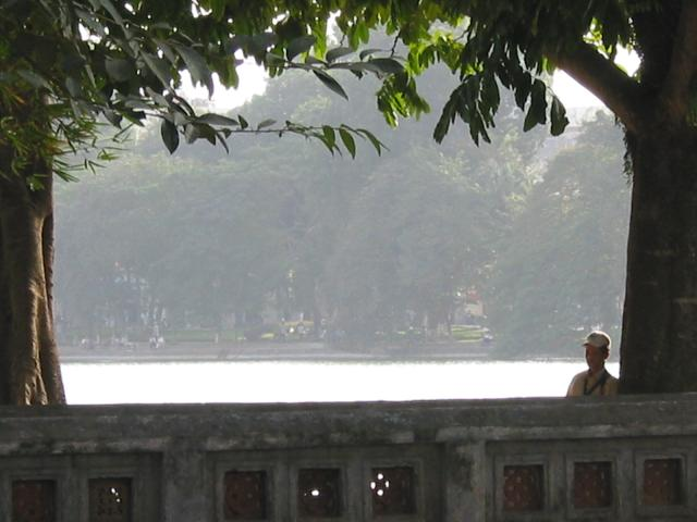Near the temple at Hoan Kiem lake