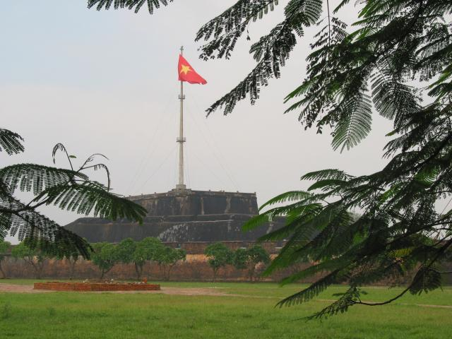 A little tiny part (with a big flag) of the Citadel