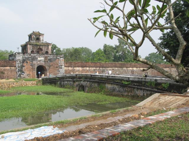 Ngan gate and moat