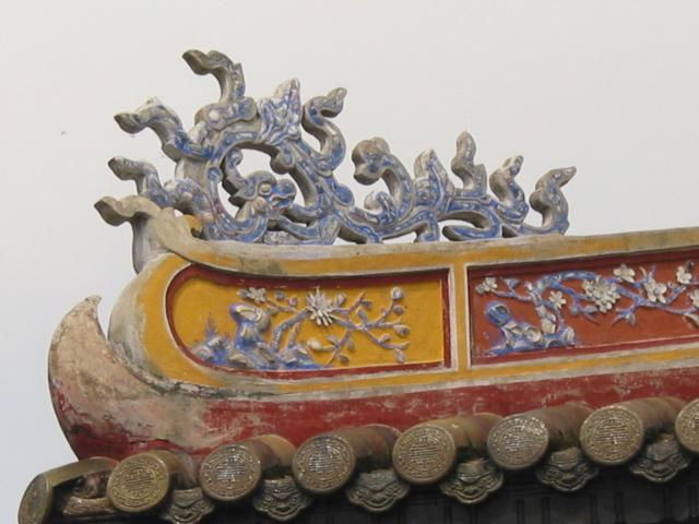 Roof detail at Ngo Mon gate