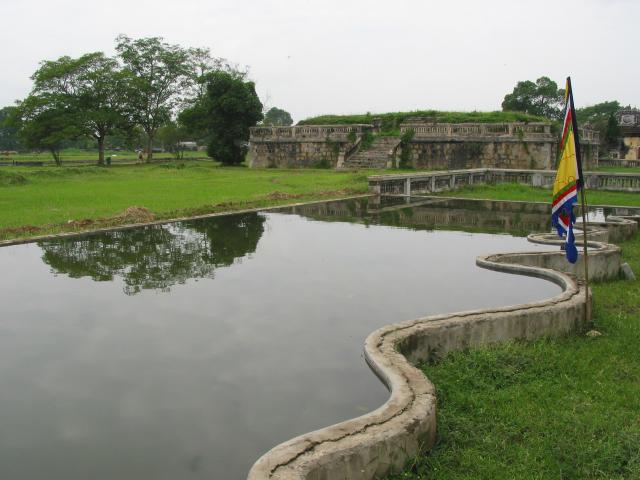 Pond near theatre