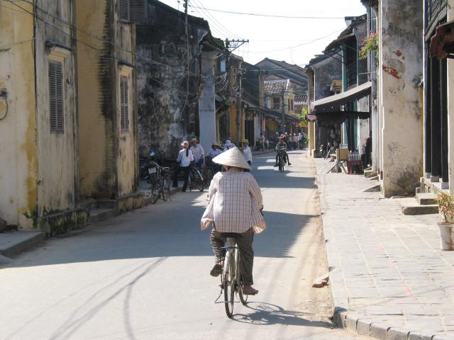 Bicycle rider in Old Town
