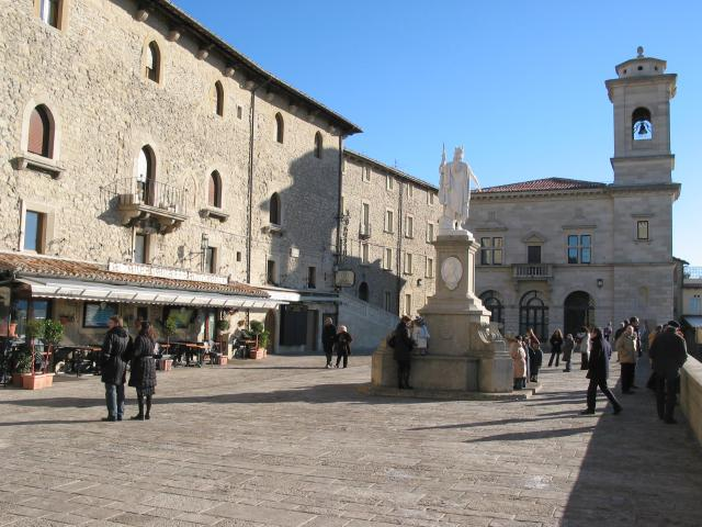 Square, church and people