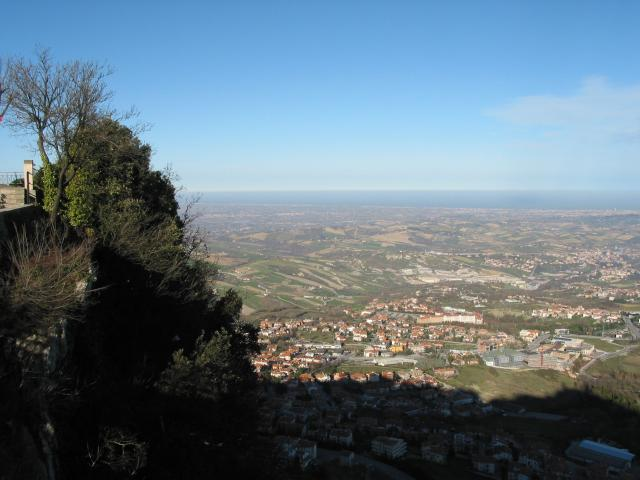 View from San Marino toward the Adriatic Sea