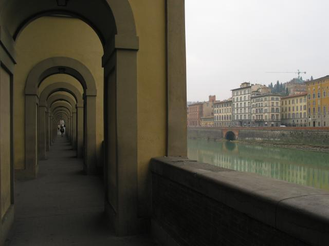 Walkway and Arno River, Firenze
