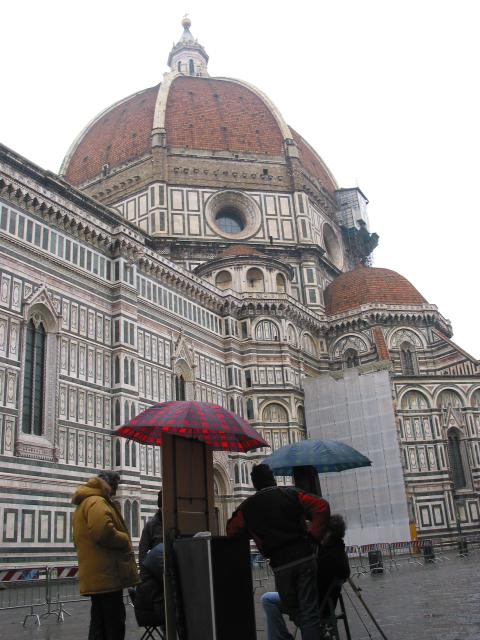 Umbrellas and duomo domes