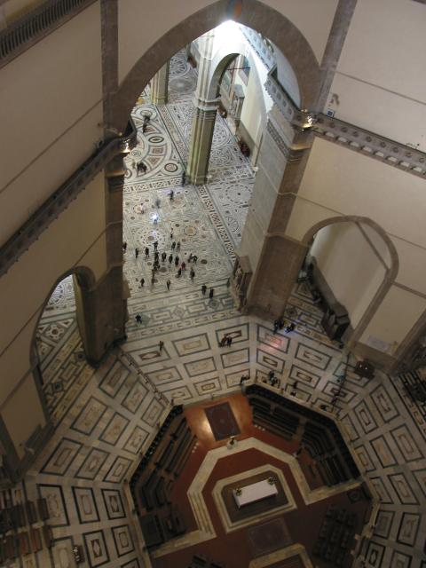 Looking down into duomo