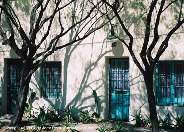 Doors, windows, and plants
