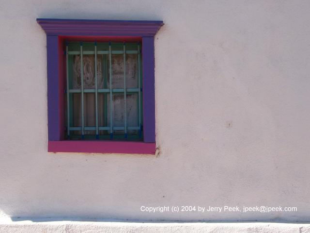 Purple and magenta window