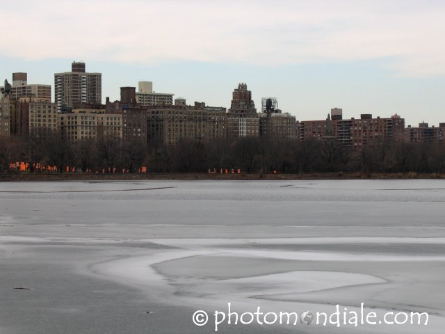 Central Park West across the Reservoir
