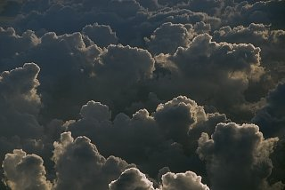 Clouds over the Gulf of Mexico, south of Houston, Texas