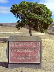 Plaque commemorating border park opening in 1974