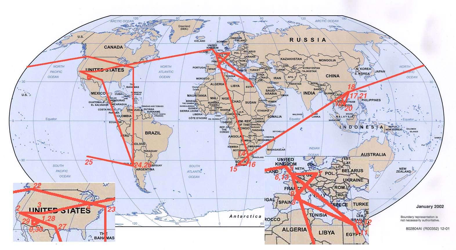 Jerry Peeks Photos Around the World 2003 – Map My Trip